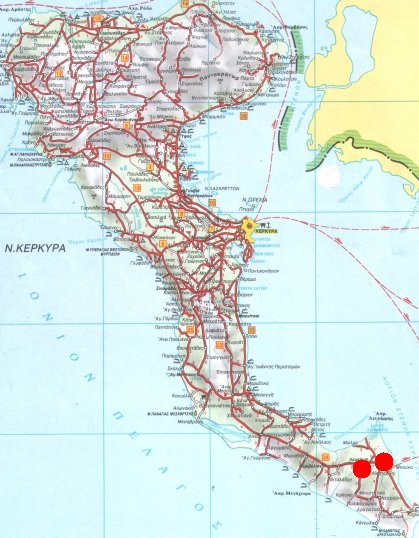 corfu greece map with Lefkimi on 7723956 furthermore 9575091681 likewise Sikinos Beaches further Delos moreover DisplayITM1.
